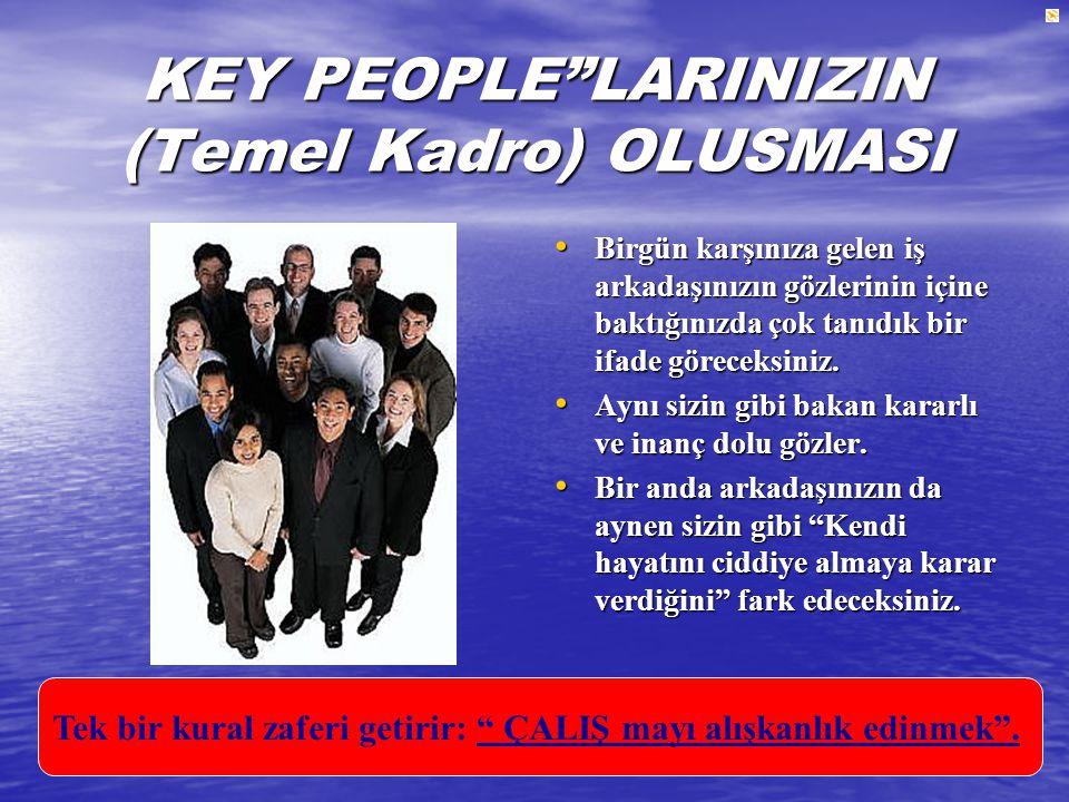 KEY PEOPLE LARINIZIN (Temel Kadro) OLUSMASI
