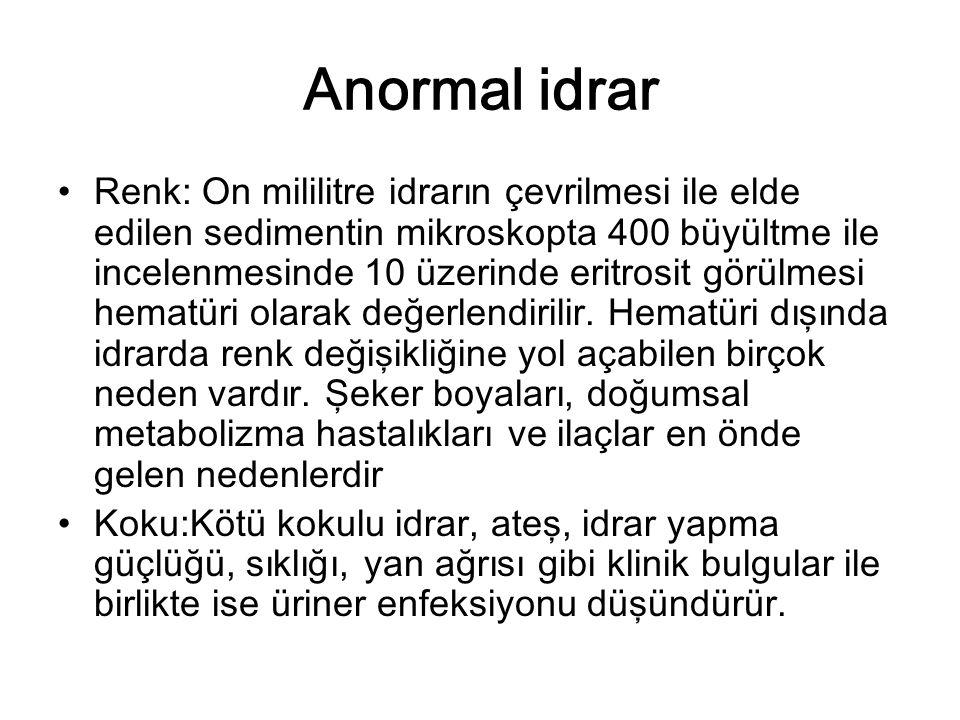 Anormal idrar