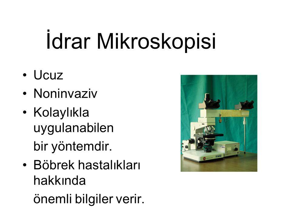İdrar Mikroskopisi Ucuz Noninvaziv Kolaylıkla uygulanabilen