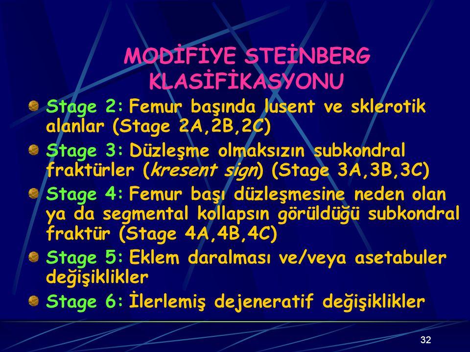MODİFİYE STEİNBERG KLASİFİKASYONU