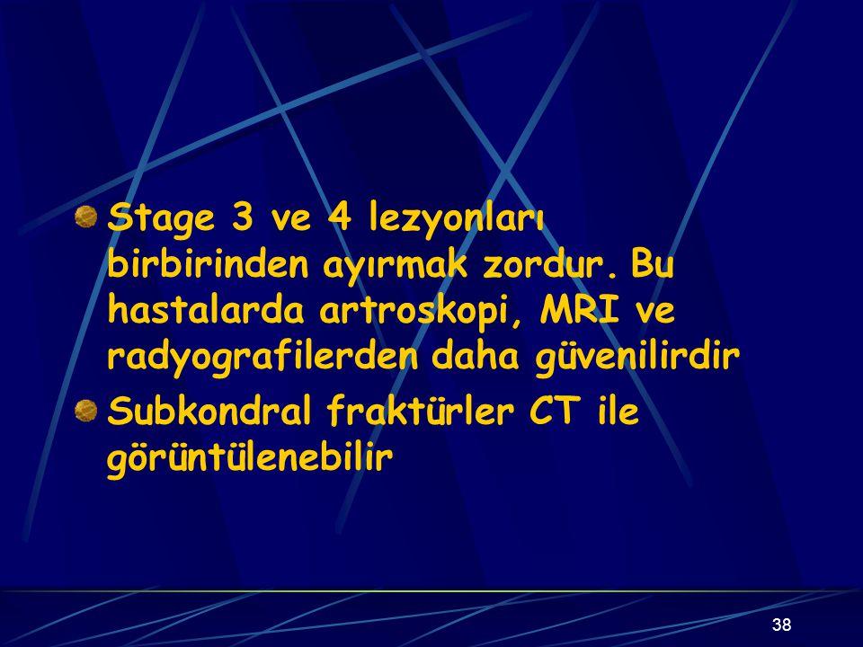 Stage 3 ve 4 lezyonları birbirinden ayırmak zordur