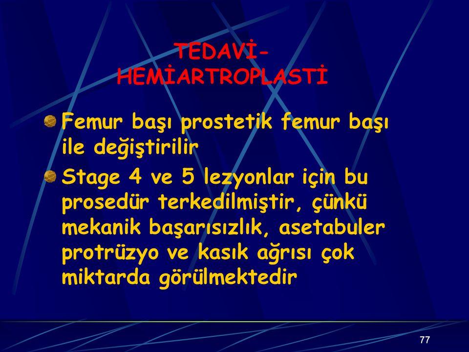 TEDAVİ-HEMİARTROPLASTİ