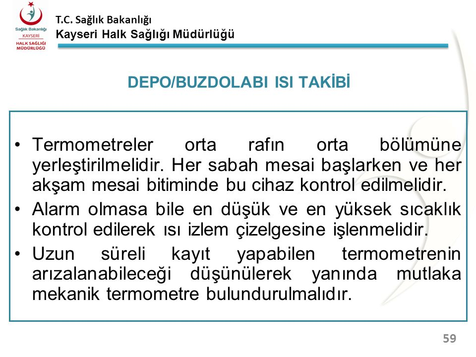 DEPO/BUZDOLABI ISI TAKİBİ
