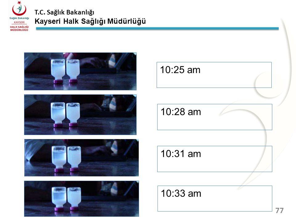 10:25 am 10:28 am 10:31 am 10:33 am