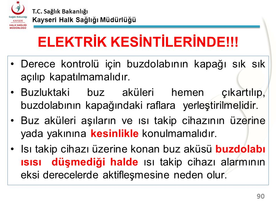 ELEKTRİK KESİNTİLERİNDE!!!