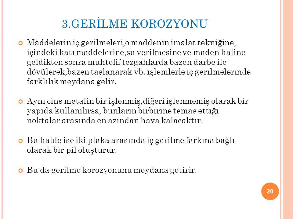 3.GERİLME KOROZYONU