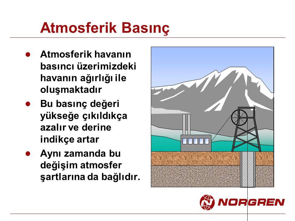 Atmosferik Basınç Atmosferik havanın basıncı üzerimizdeki havanın ağırlığı ile oluşmaktadır.