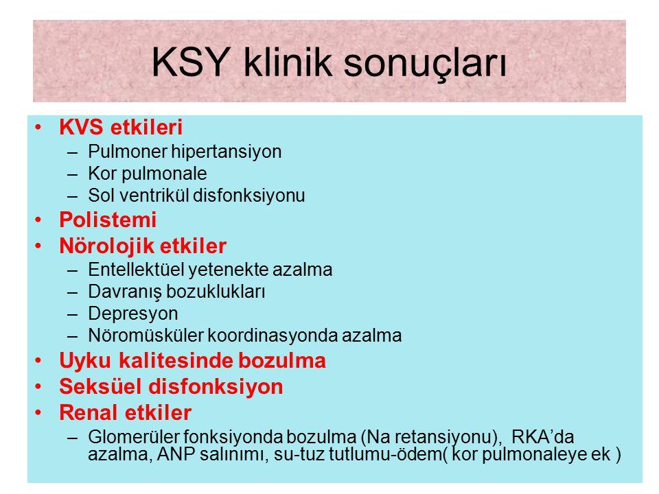 KSY klinik sonuçları KVS etkileri Polistemi Nörolojik etkiler