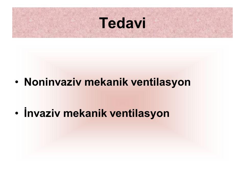 Tedavi Noninvaziv mekanik ventilasyon İnvaziv mekanik ventilasyon
