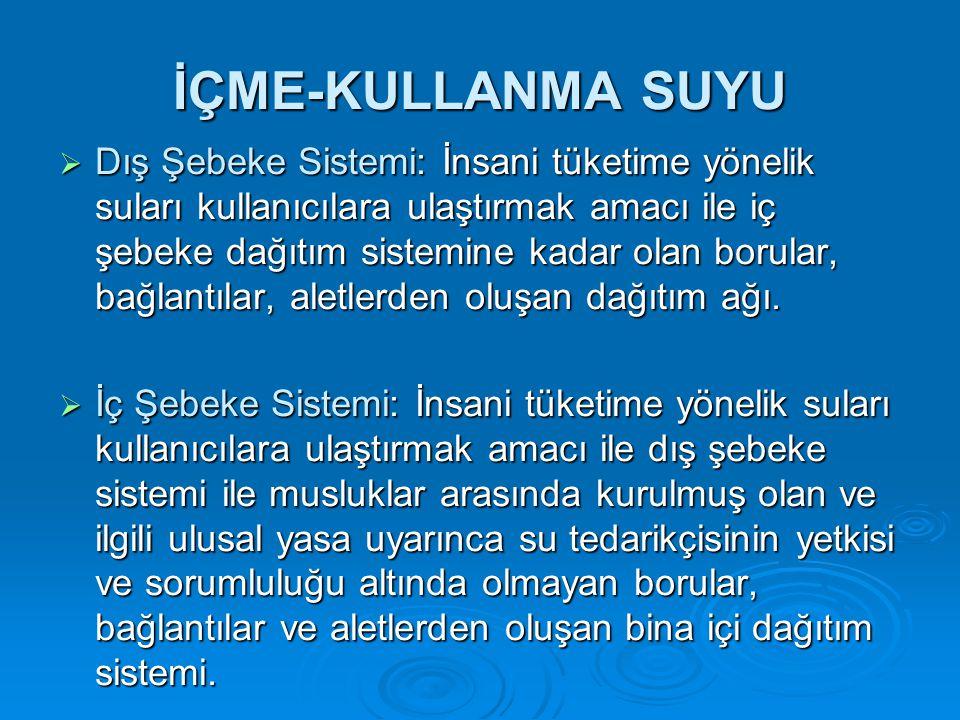 İÇME-KULLANMA SUYU