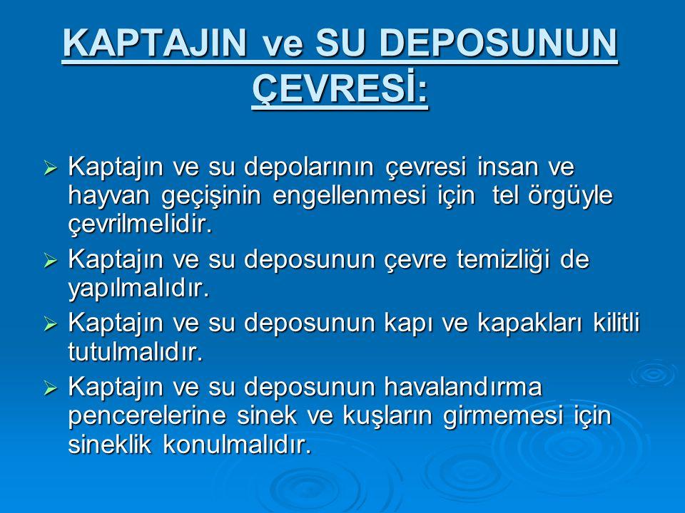 KAPTAJIN ve SU DEPOSUNUN ÇEVRESİ: