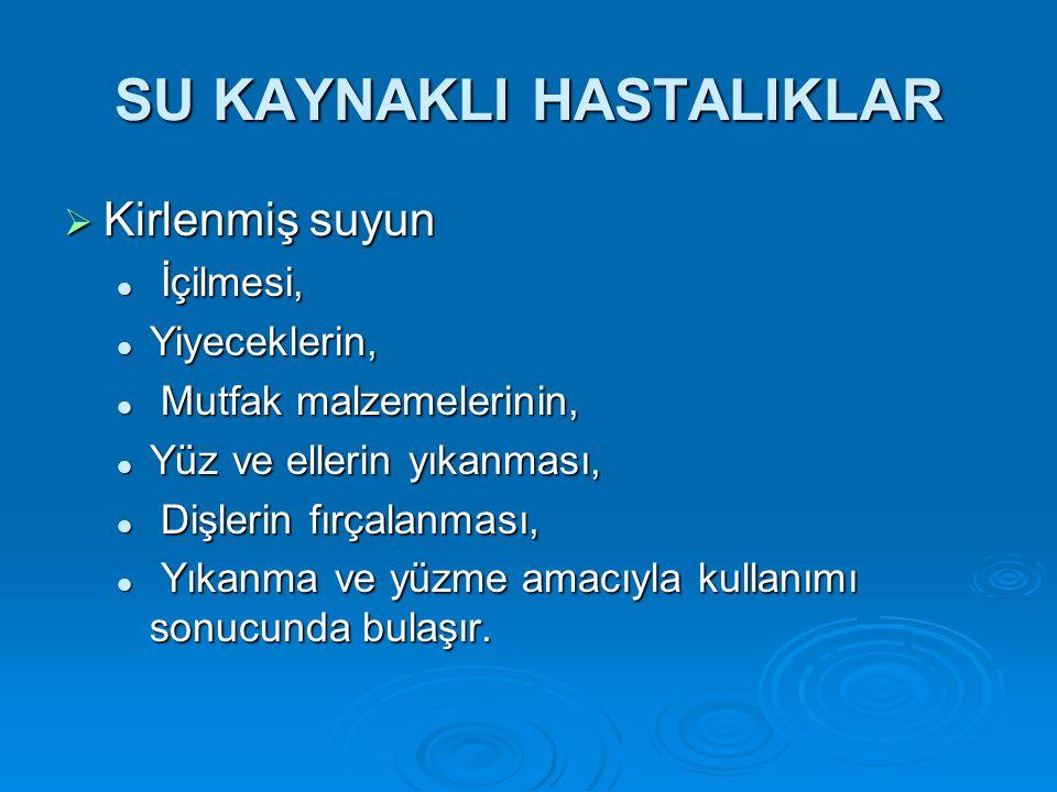 SU KAYNAKLI HASTALIKLAR
