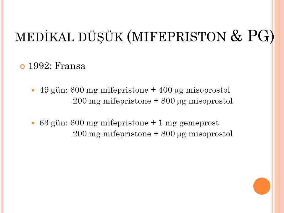 MEDİKAL DÜŞÜK (mifepriston & PG)