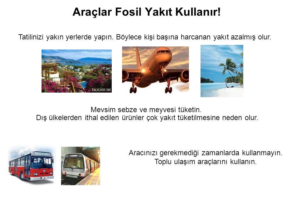 Araçlar Fosil Yakıt Kullanır!