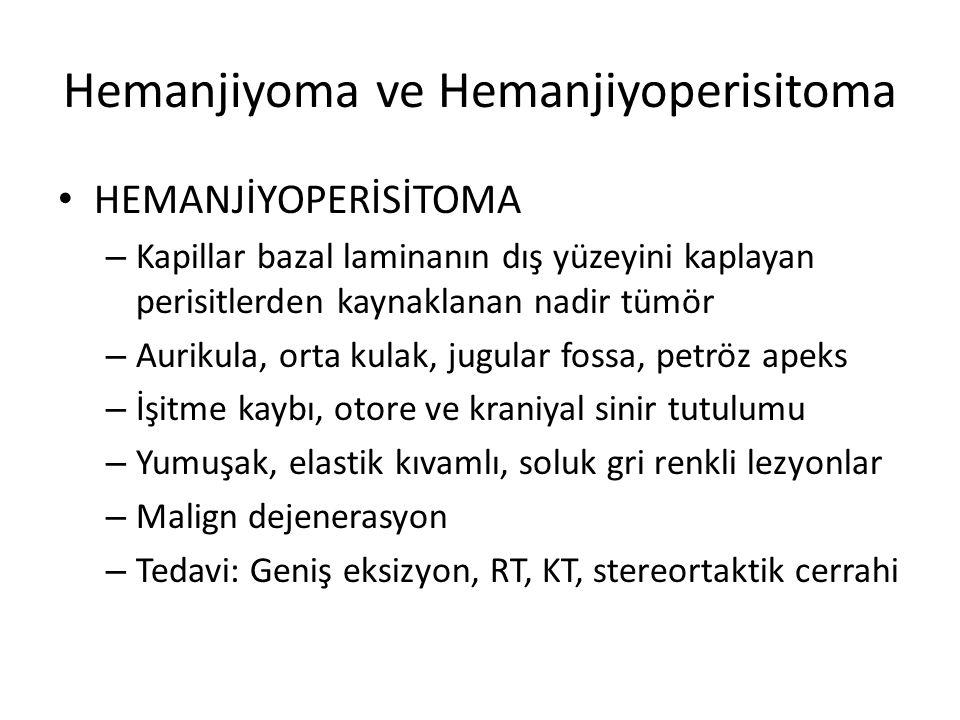 Hemanjiyoma ve Hemanjiyoperisitoma