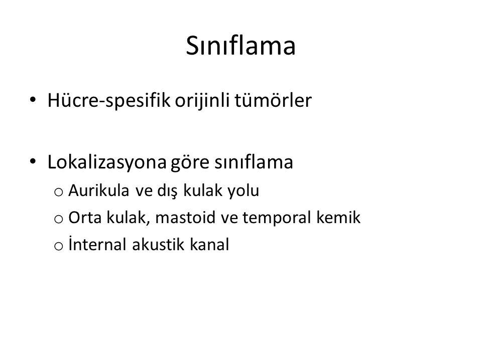 Sınıflama Hücre-spesifik orijinli tümörler