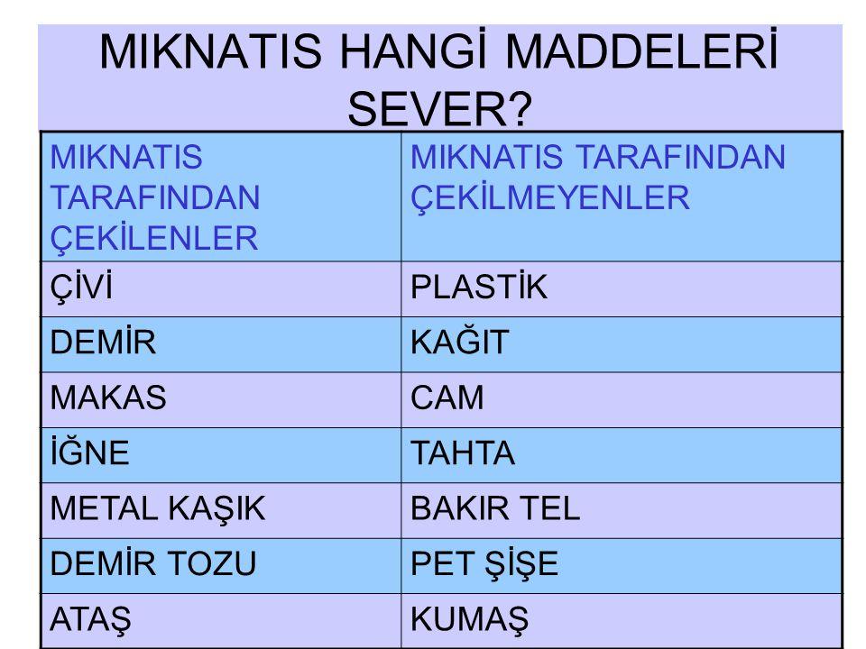 MIKNATIS HANGİ MADDELERİ SEVER