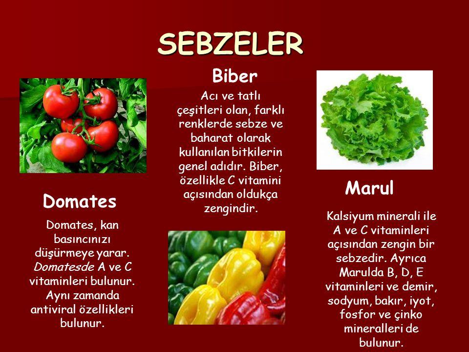 SEBZELER Biber.
