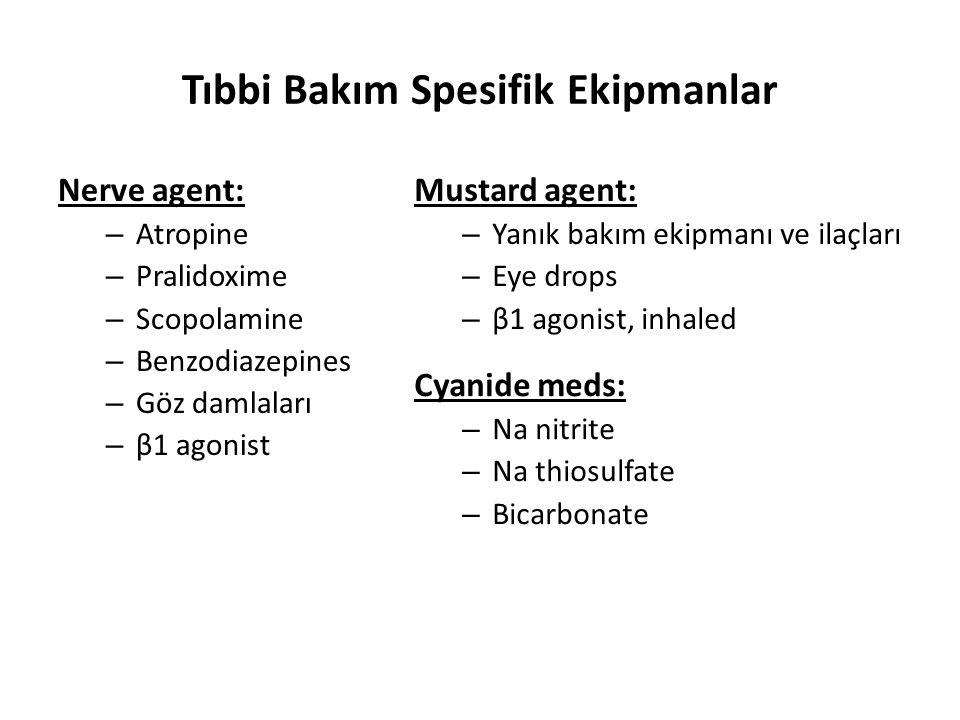 Tıbbi Bakım Spesifik Ekipmanlar