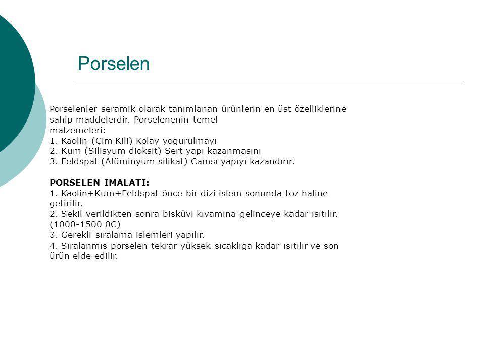 Porselen Porselenler seramik olarak tanımlanan ürünlerin en üst özelliklerine sahip maddelerdir. Porselenenin temel.
