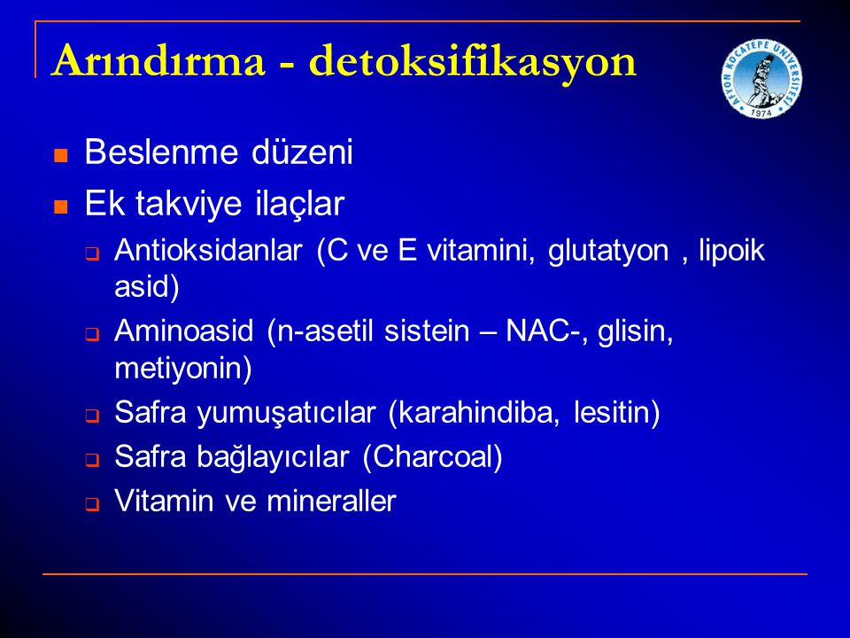 Arındırma - detoksifikasyon