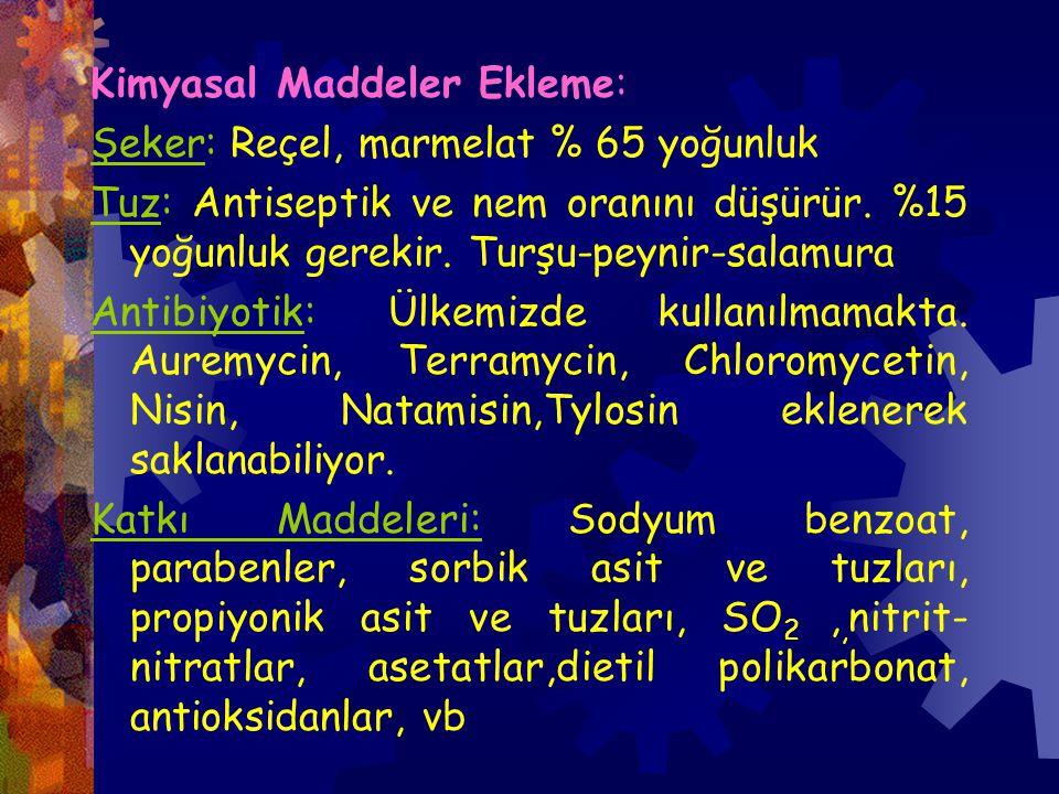 Kimyasal Maddeler Ekleme: