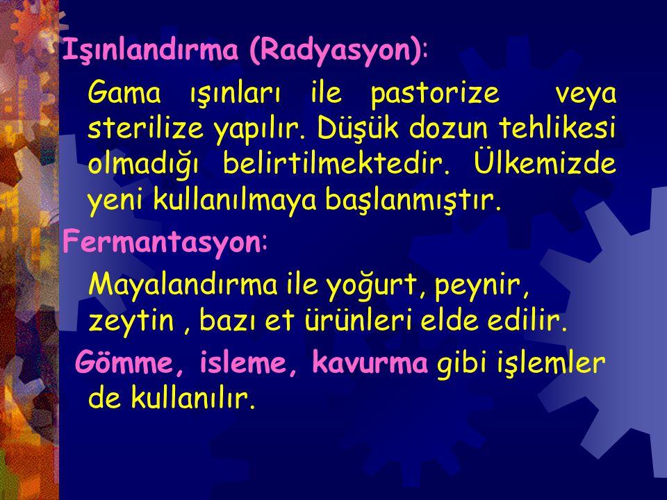 Işınlandırma (Radyasyon):