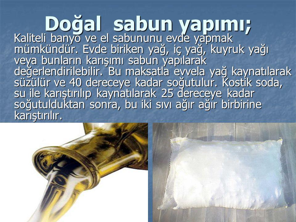 Doğal sabun yapımı;