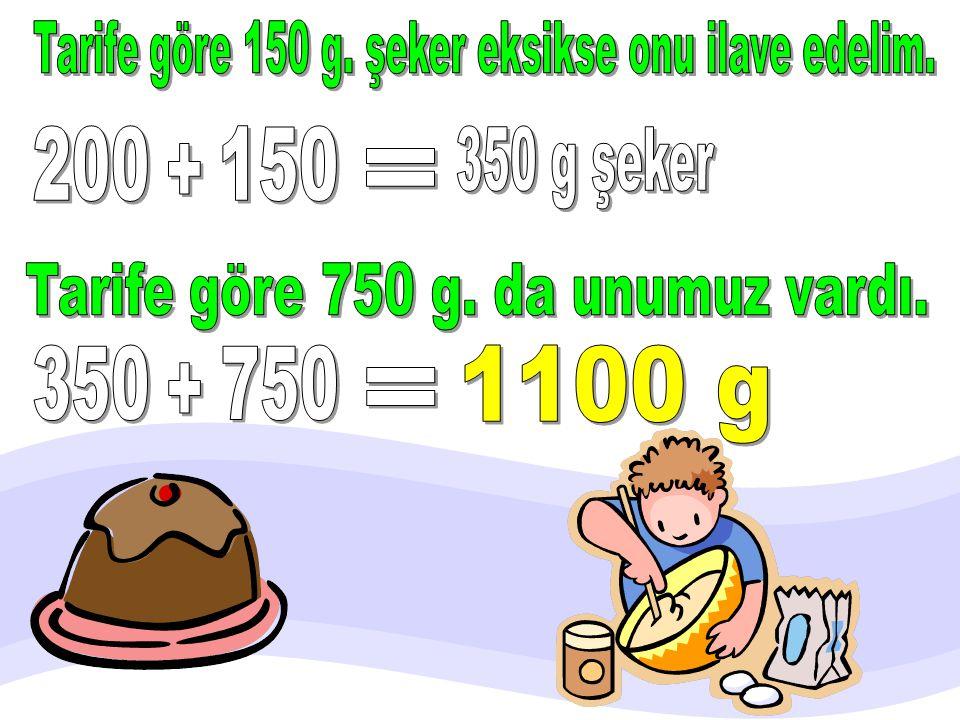 Tarife göre 150 g. şeker eksikse onu ilave edelim.