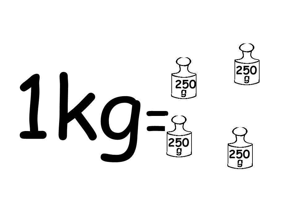 1kg= 250 250 250 250