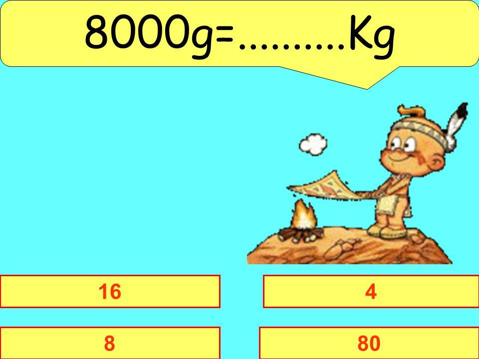 8000g=..........Kg 16 4 8 80
