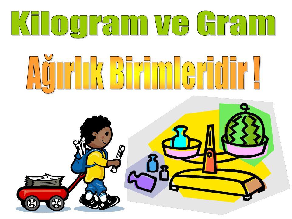 Kilogram ve Gram Ağırlık Birimleridir !