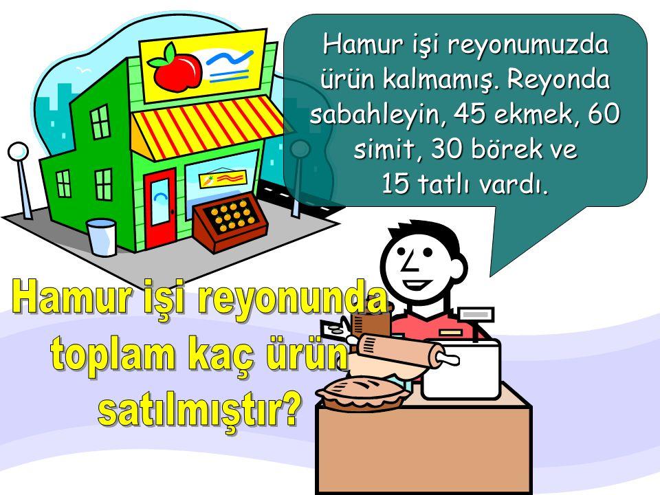 Hamur işi reyonunda toplam kaç ürün satılmıştır