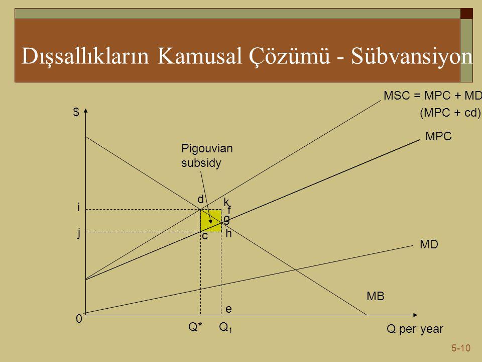 Dışsallıkların Kamusal Çözümü - Sübvansiyon