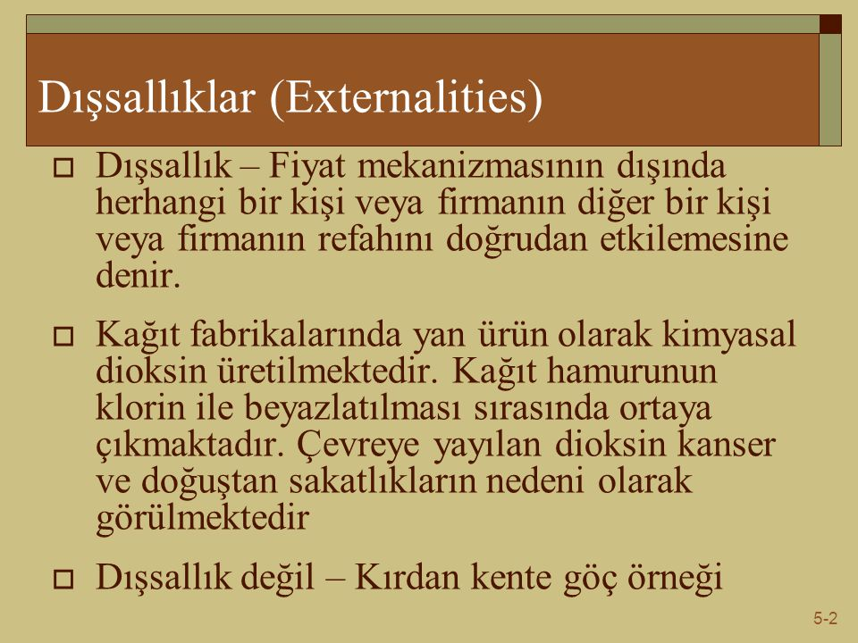 Dışsallıklar (Externalities)