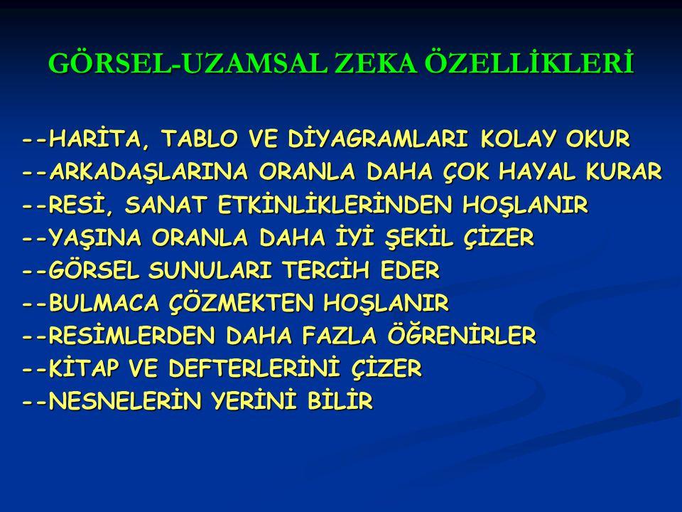 GÖRSEL-UZAMSAL ZEKA ÖZELLİKLERİ