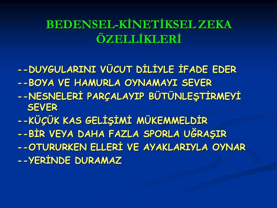 BEDENSEL-KİNETİKSEL ZEKA ÖZELLİKLERİ
