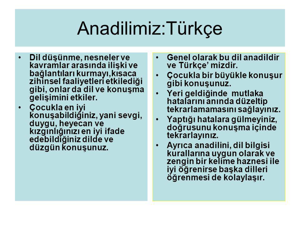 Anadilimiz:Türkçe
