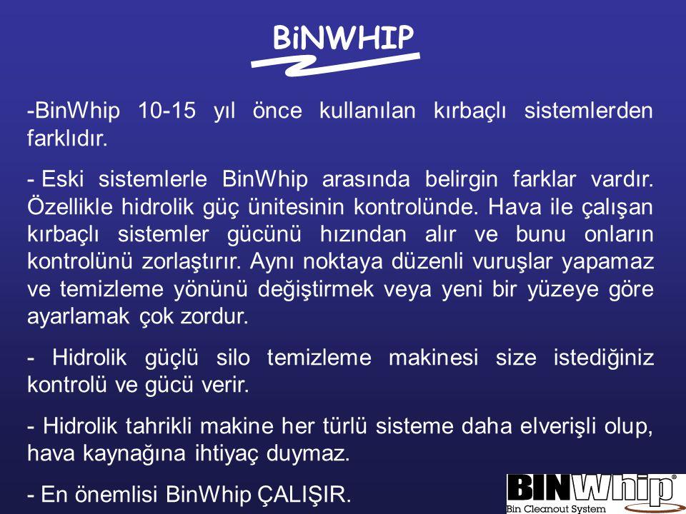 BiNWHIP BinWhip 10-15 yıl önce kullanılan kırbaçlı sistemlerden farklıdır.