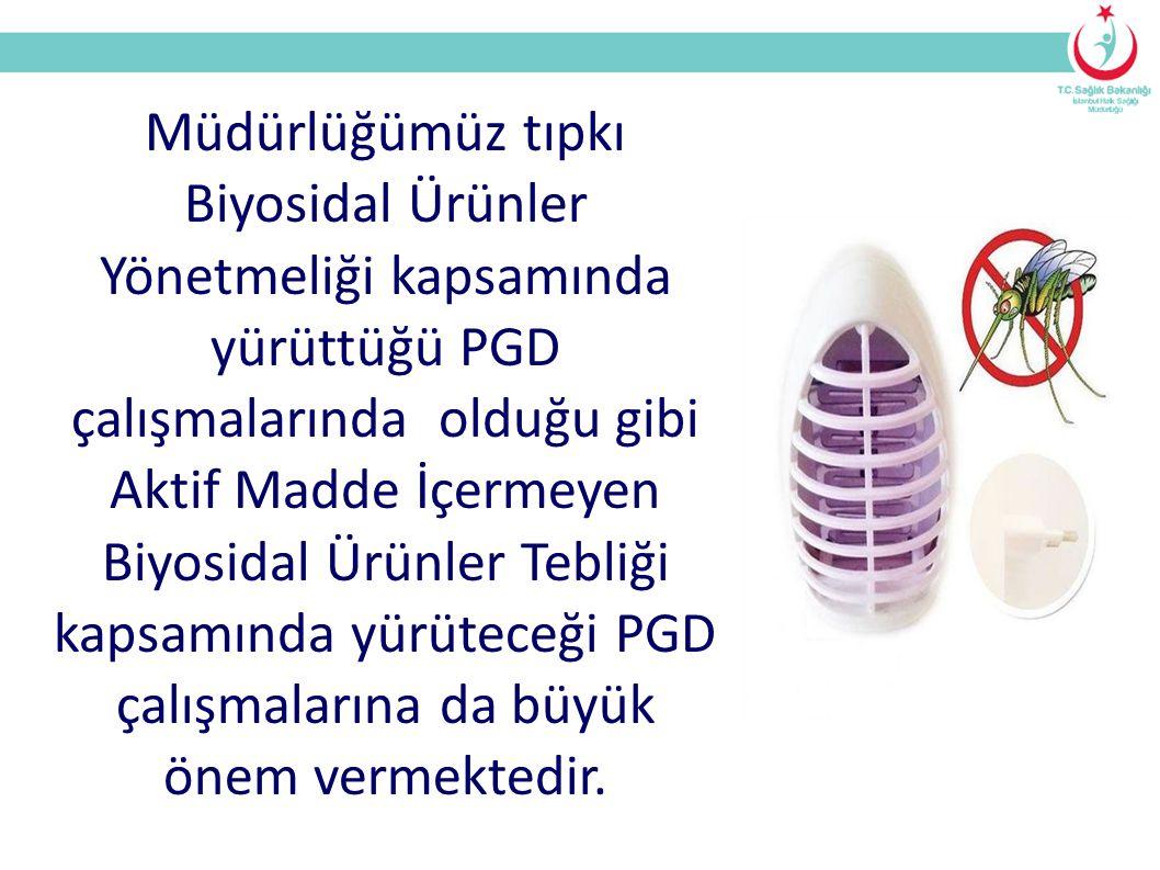Müdürlüğümüz tıpkı Biyosidal Ürünler Yönetmeliği kapsamında yürüttüğü PGD çalışmalarında olduğu gibi Aktif Madde İçermeyen Biyosidal Ürünler Tebliği kapsamında yürüteceği PGD çalışmalarına da büyük önem vermektedir.
