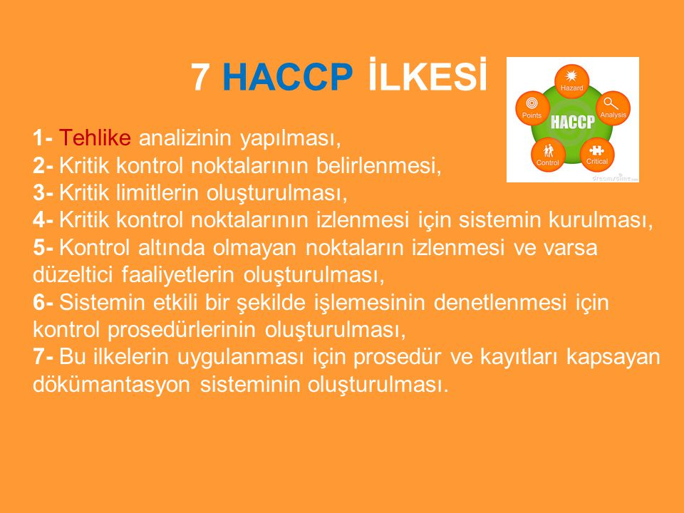 7 HACCP İLKESİ