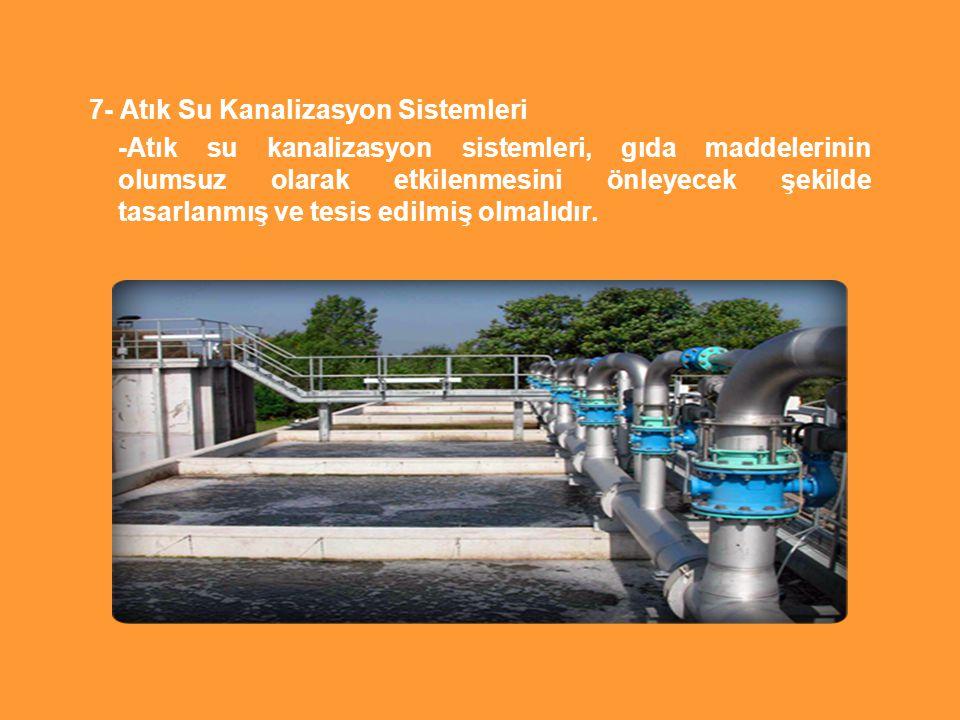 7- Atık Su Kanalizasyon Sistemleri