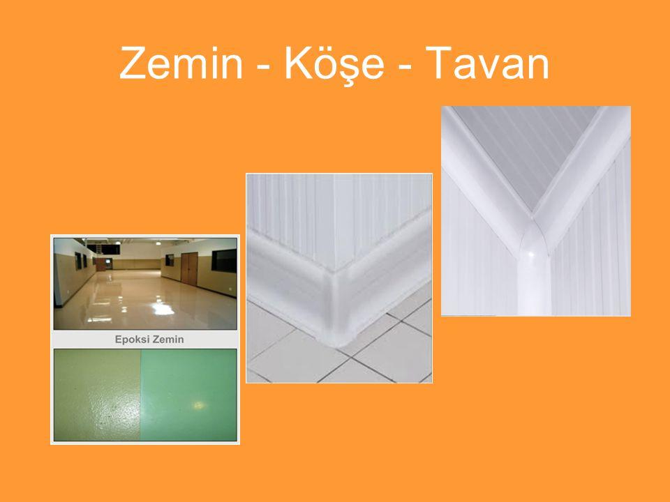 Zemin - Köşe - Tavan