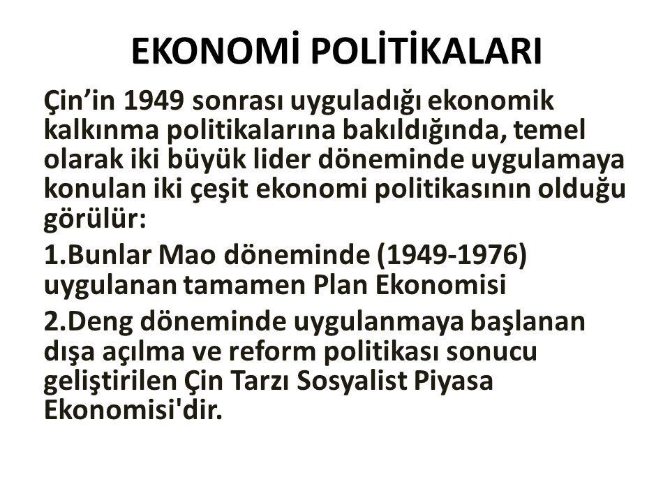 EKONOMİ POLİTİKALARI