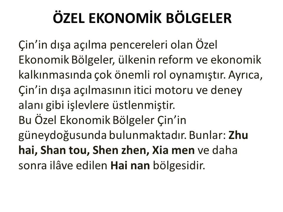 ÖZEL EKONOMİK BÖLGELER