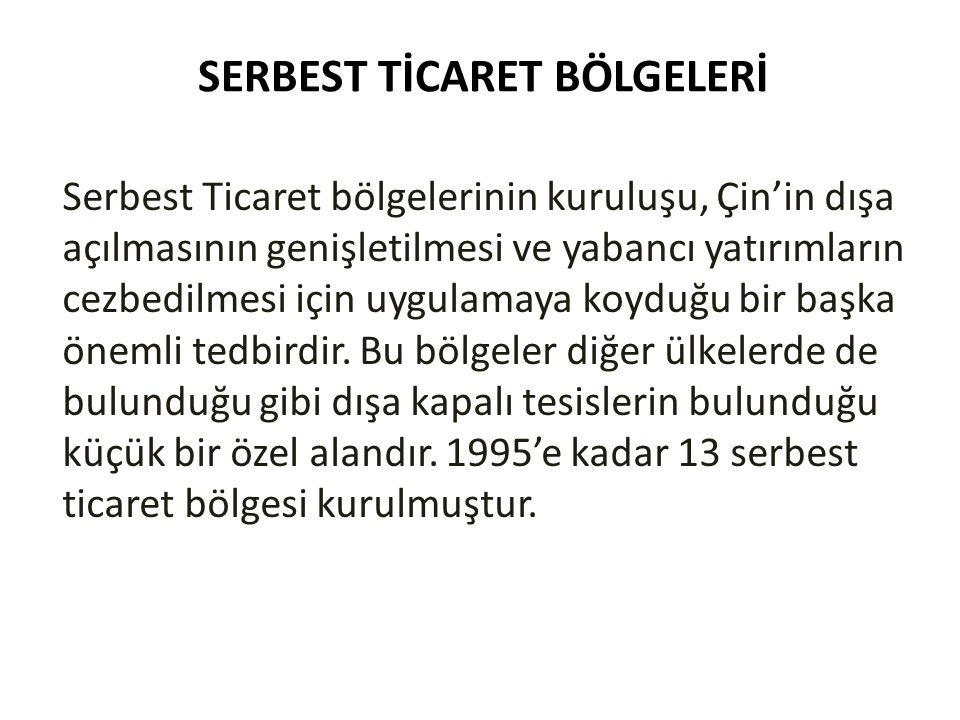 SERBEST TİCARET BÖLGELERİ
