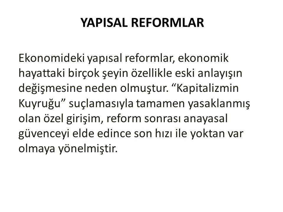 YAPISAL REFORMLAR
