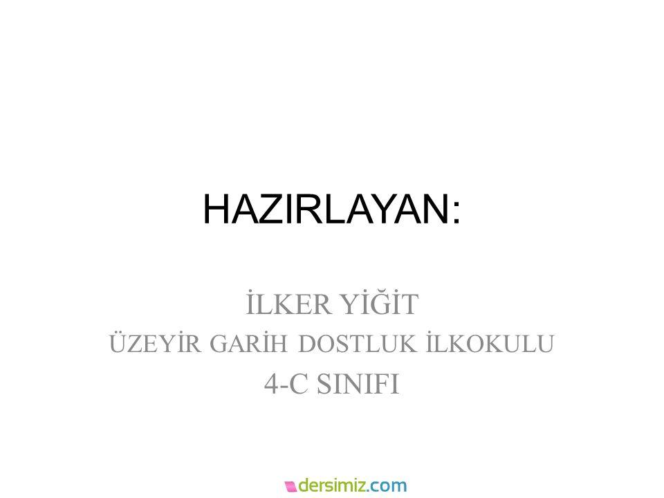 İLKER YİĞİT ÜZEYİR GARİH DOSTLUK İLKOKULU 4-C SINIFI