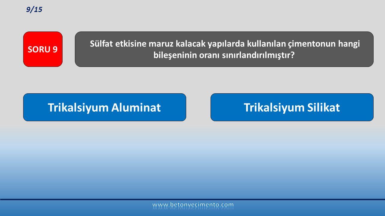 Trikalsiyum Aluminat Trikalsiyum Silikat