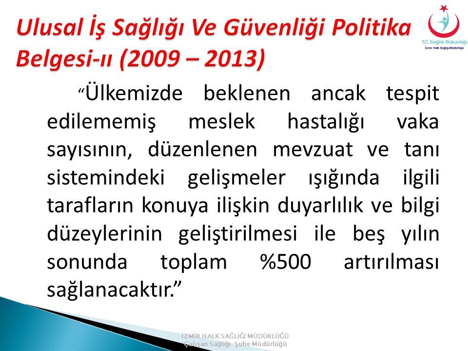 Ulusal İş Sağlığı Ve Güvenliği Politika Belgesi-ıı (2009 – 2013)
